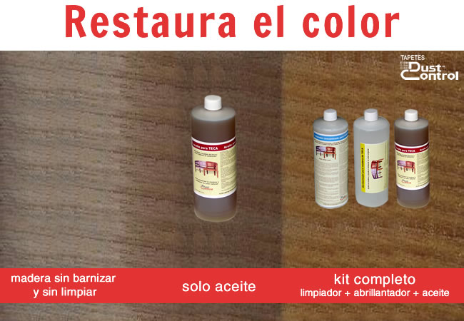 Restaurar el color de la teca